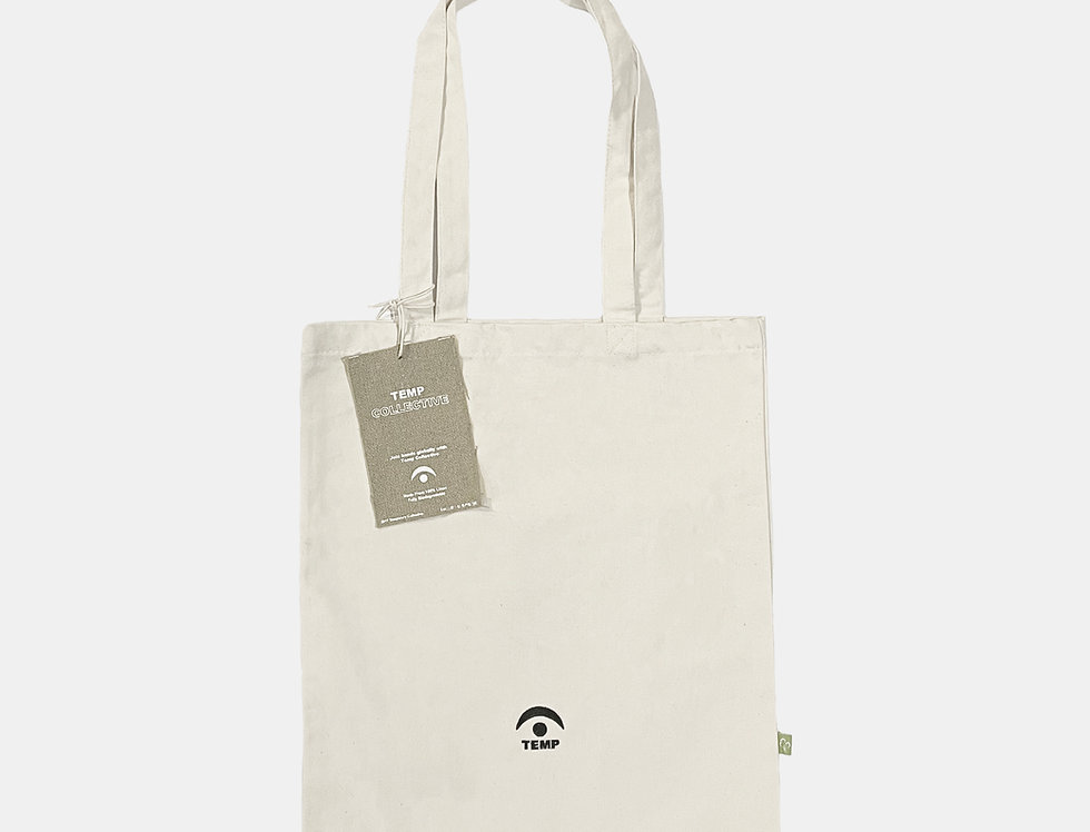 Black Embroidered Canvas Tote Bag