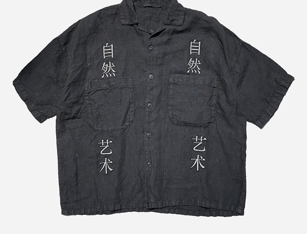 Embroidered Art In Nature Shirt