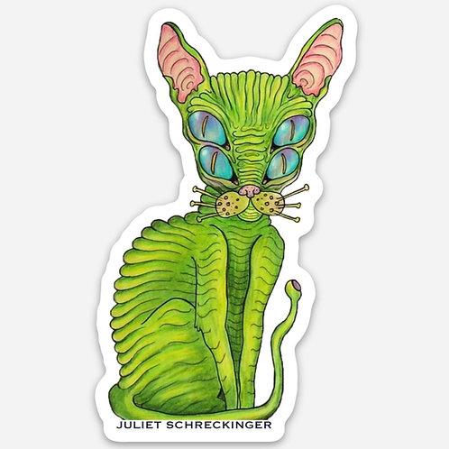 """Trippy Kitty"" Sticker"