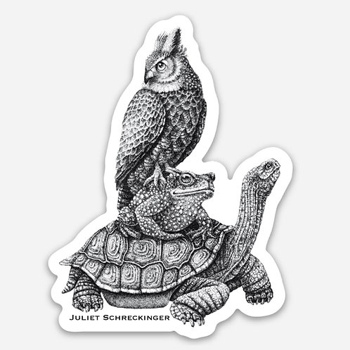 """Animal Stack"" Sticker"