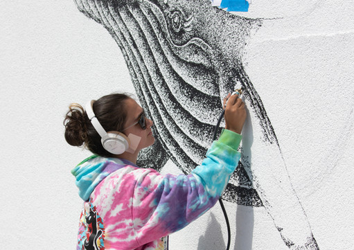 Progress on the mural