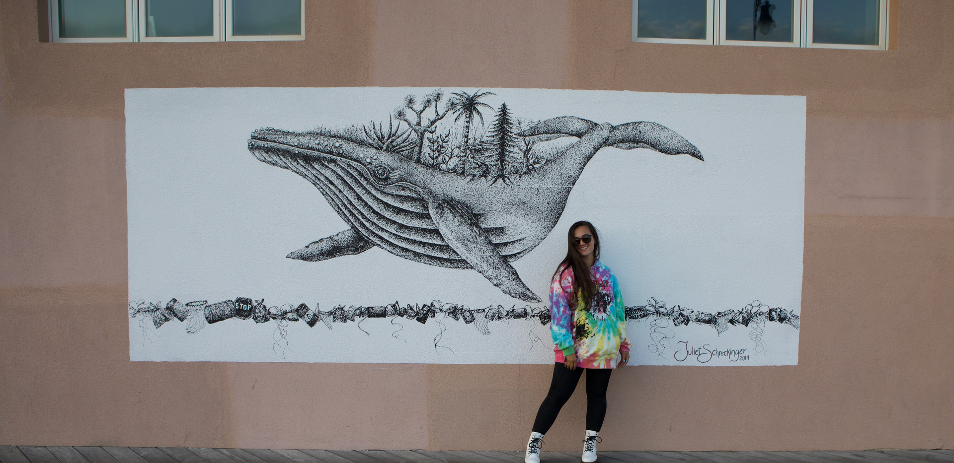 The finished mural