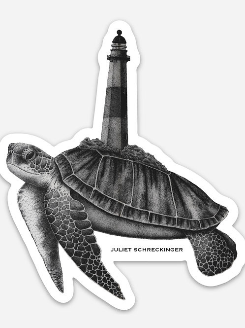 """The Turtle's Lighthouse"" Sticker"