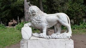 Római oroszlánok, amelyiket lehetett, Nóri meg is mászta…
