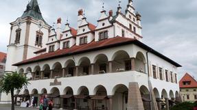 A lőcsei városháza és környéke.