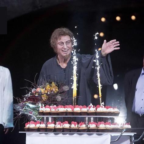 Fokanov 25 éves operaházi jubileuma a Rigoletto előadás után, Miklósa Erikával és Szinetár Miklóssal. 2017 szeptember 24.