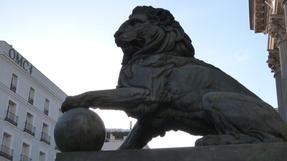 Madridi oroszlán, palotaközelben.