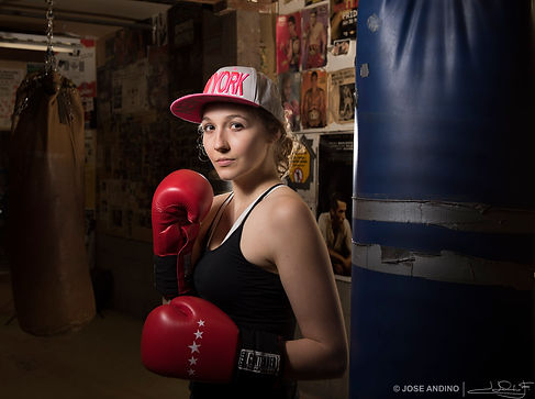 People photography, boxing, portrait