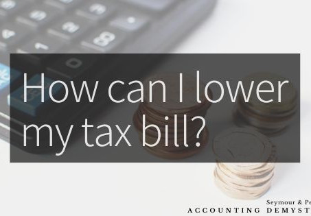 How Can I Minimize My Tax Bill?