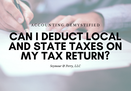 Can I deduct state and local taxes on my 2019 tax return?