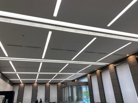 GW  LED高所工事は無事故で