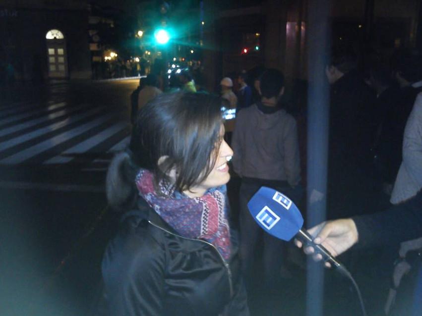 Entrevista Noticias TPA. Noche Blanca Oviedo 2014. Vídeo mapping Teatro Campoamor. Laura de la Rica
