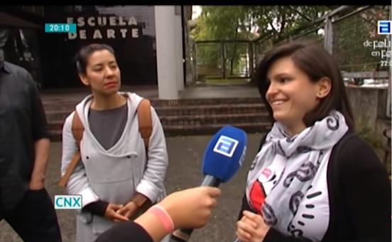 Entrevista Escuela de Arte de Oviedo. Noche Blanca Oviedo 2014. Vídeo mapping Teatro Campoamor. Laura de la Rica