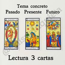 Lectura 3 Cartas. Presente-Pasado-Futuro. 10€
