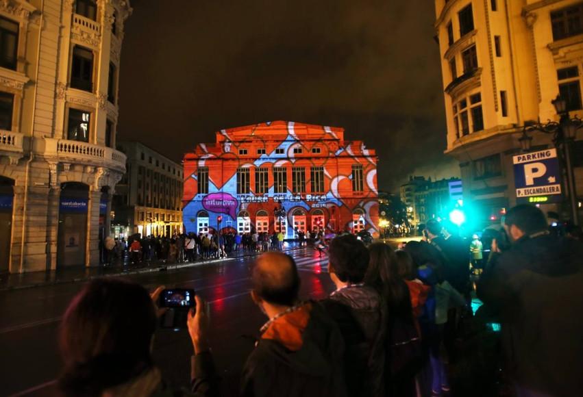 Noche Blanca Oviedo 2014. Vídeo mapping Teatro Campoamor. Laura de la Rica.
