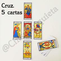 Tirada en Cruz 5 cartas. 12€