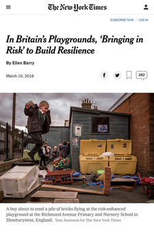 'In Britain's Playgrounds, 'Bringing in Risk' to Build Resilience'