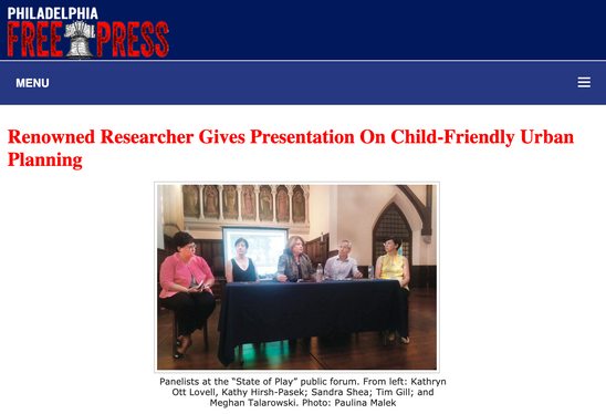'Renowned Researcher Gives Presentation On Child-Friendly Urban Planning'