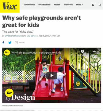'Why safe playgrounds aren't good for kids'