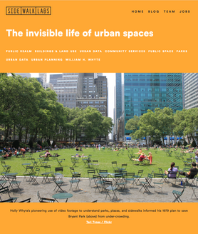 'The Invisible Life of Urban Spaces'