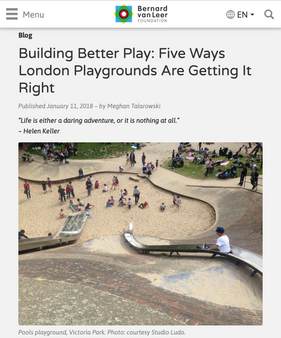 'Building Better Play: Five Ways London Playgrounds Are Getting It Right'