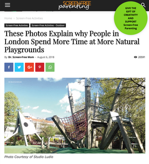 'These Photos Explain why People in London Spend More Time at More Natural Playgrounds'