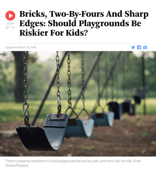'Bricks, Two-By-Fours And Sharp Edges: Should Playgrounds Be Riskier For Kids?'