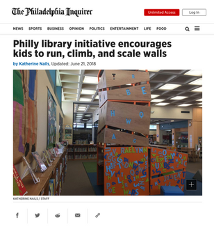 'Philly library initiative encourages kids to run, climb and scale walls'