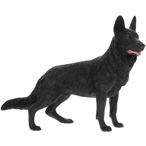 Black German Shepherd Figurine