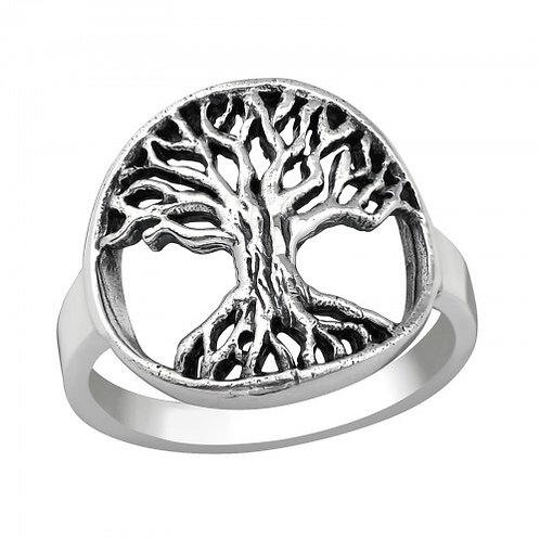 Tree of Life Plain Silver Ring