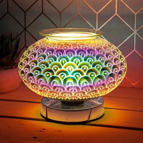 Round Melt Burner / Aroma Lamp With Striking 3D Design