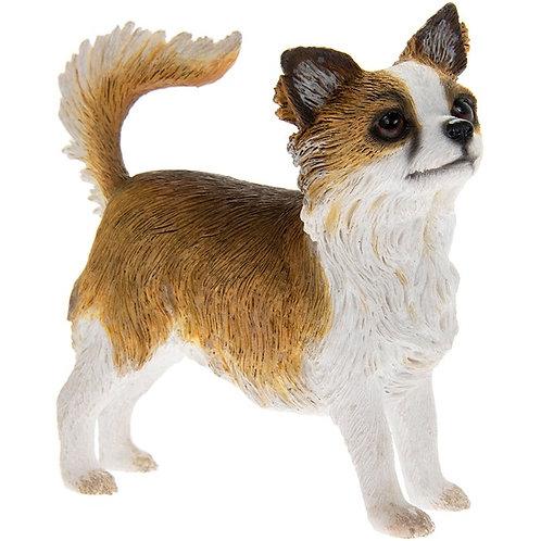 Longhaired Chihuahua Dog Figurine