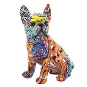 Graffiti Bulldog Figurine