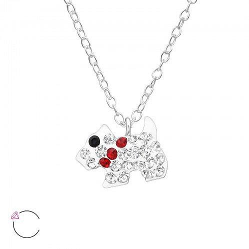 Dog Plain Silver Necklace