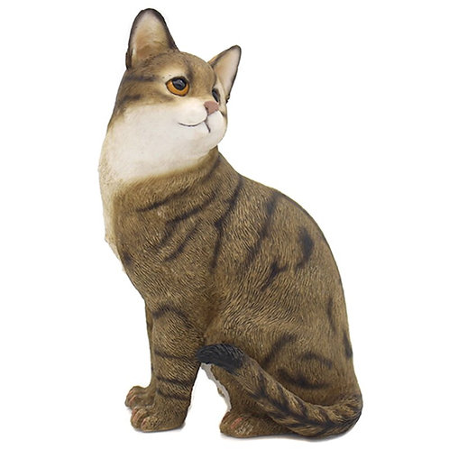 Tabby and White Cat Figurine