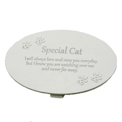 Special Cat Memorial Plaque