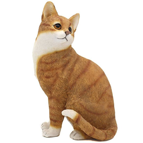Ginger and White Cat Figurine