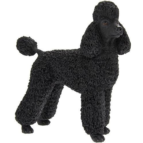 Black Poodle Dog Figurine