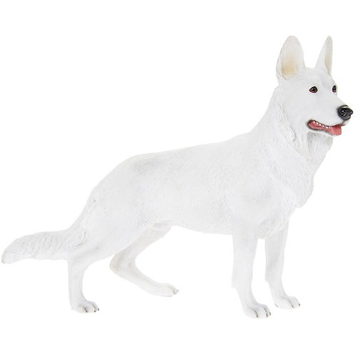 White German Shepherd Figurine
