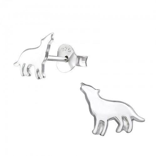 Wolf Sterling Silver Plain Ear Studs