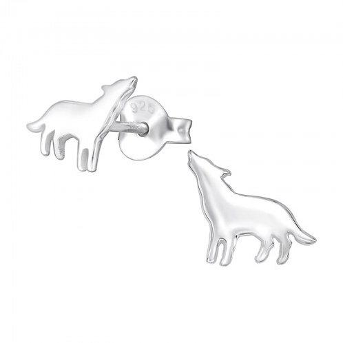 Wolves Plain Ear Studs