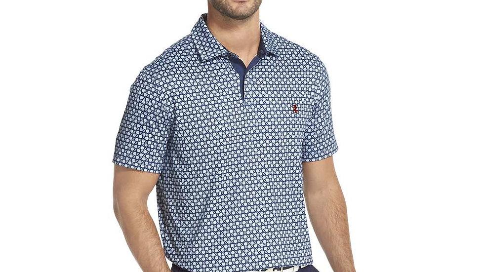 IZOD - Men's SS Golf Ball Stripe Polo Club Blue
