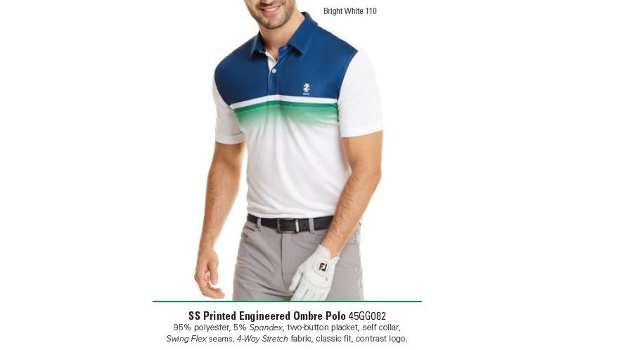 IZOD - OMBRE P0RINTED ENGINEERED POLO - 45GG082