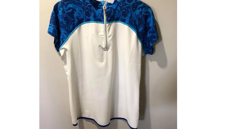 LAK06406 Treya Mock Cap Sleeve Polo