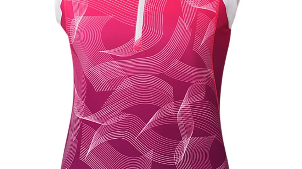 Anika - Ladies Top Mock Neck Intuition Ombre