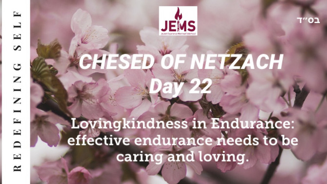 Day 22 of the Omer: CHESED OF NETZACH