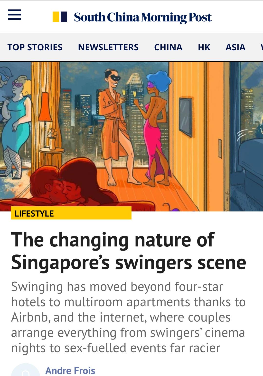 Swingers story for SCMP