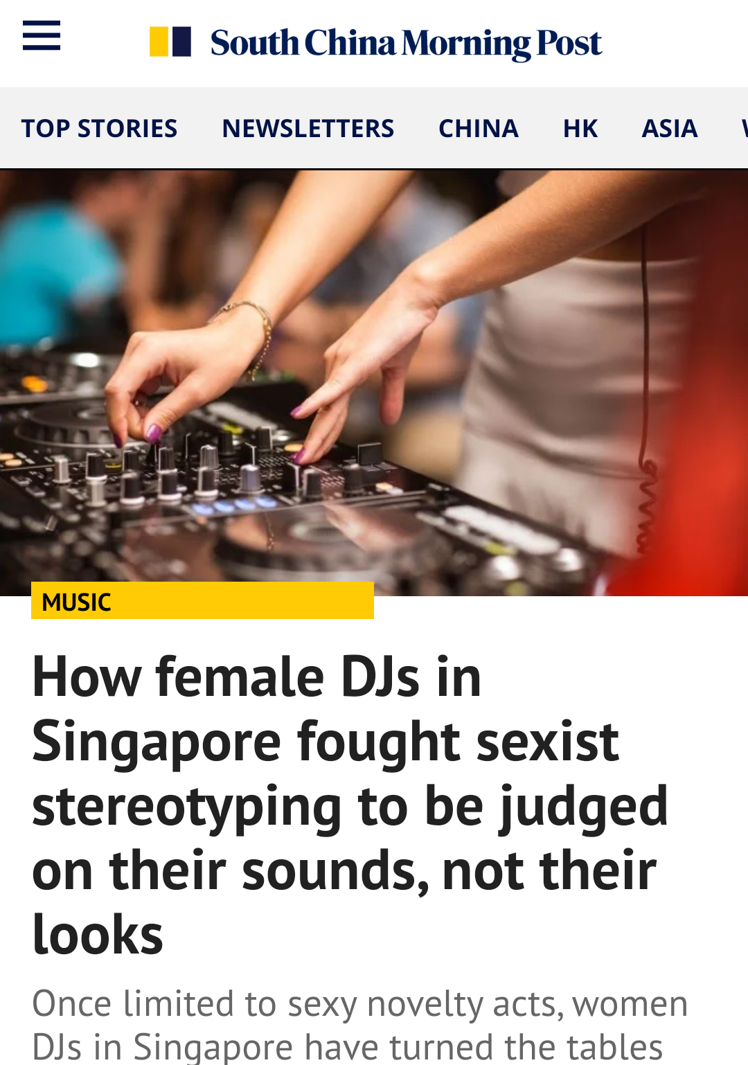 Female DJs story for SCMP