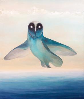 Парящая полярная сова