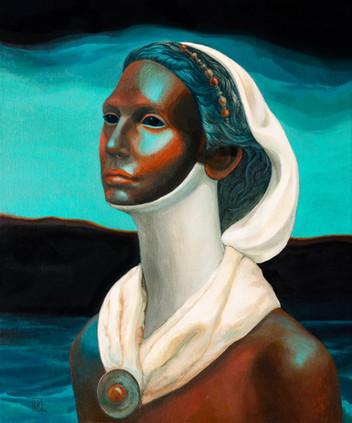 Дева-жрица с эбеновой кожей